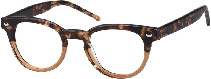 Acetate Full-Rim Frame with Spring Hinges6364 | Round eyeglasses ...