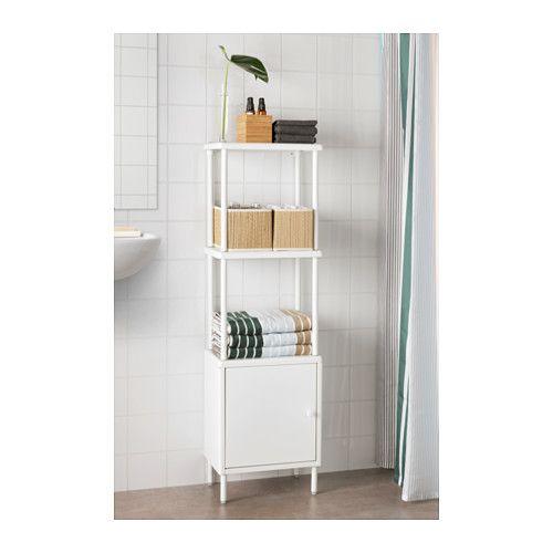 Ikea Bathroom Storage Unit: DYNAN Shelving Unit With Cabinet, White