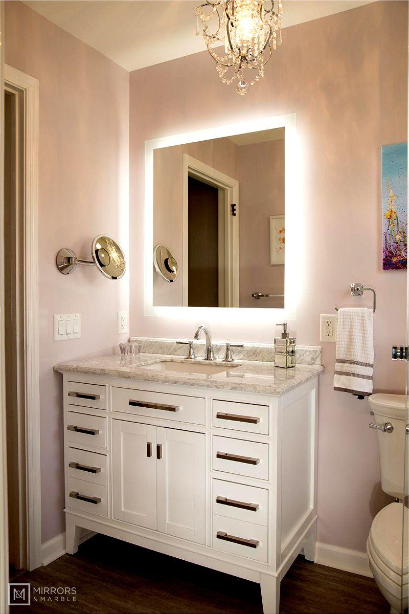 Side Lighted Led Bathroom Vanity Mirror 32 Bathroom Vanity Mirror Bathroom Vanity Bathroom Design