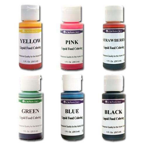 Assorted Food Colors (6 Pcs) | Gelatin Art | Frosting colors, Oil ...