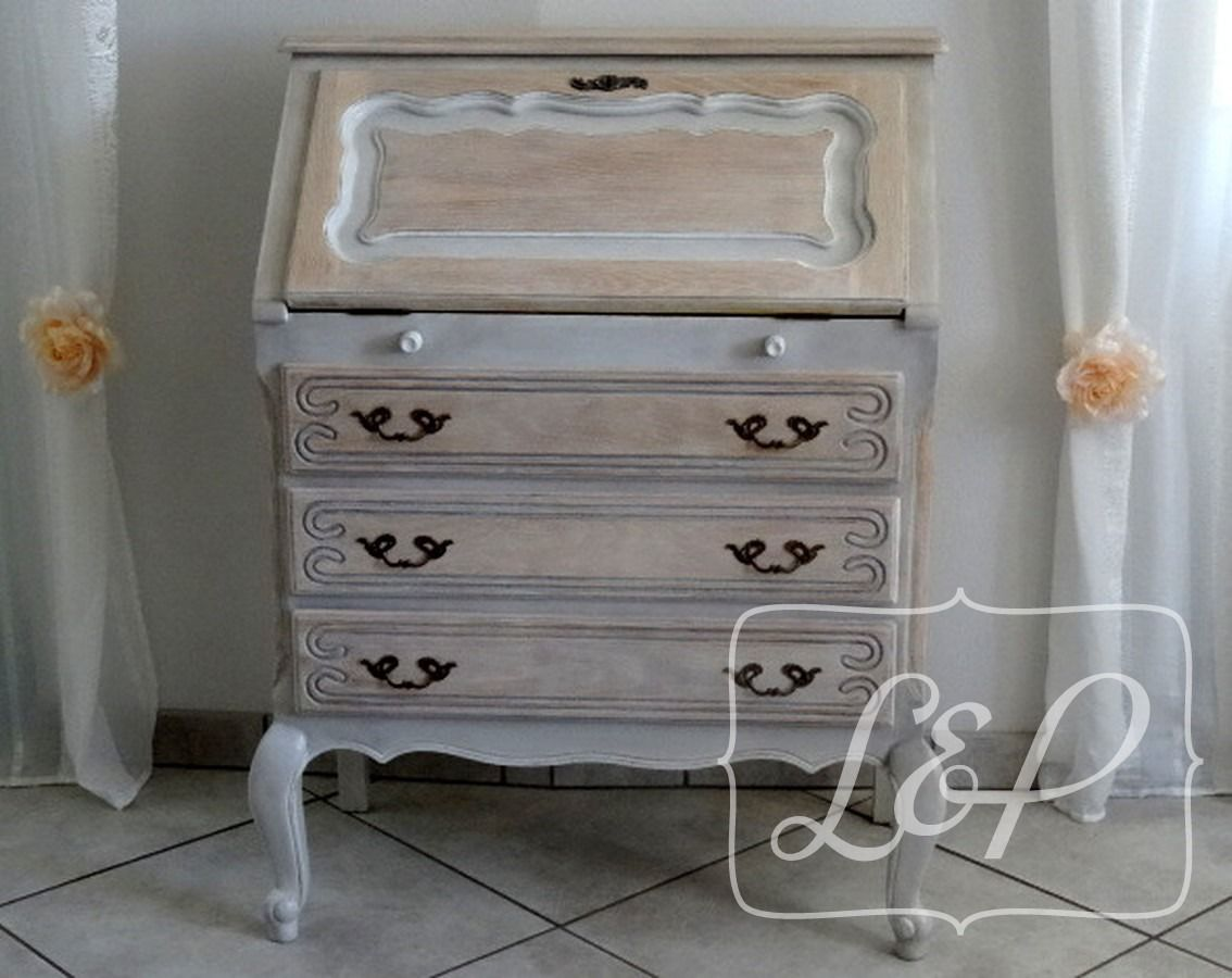commode secr taire de style louis xv el gance relook e shabby and house. Black Bedroom Furniture Sets. Home Design Ideas