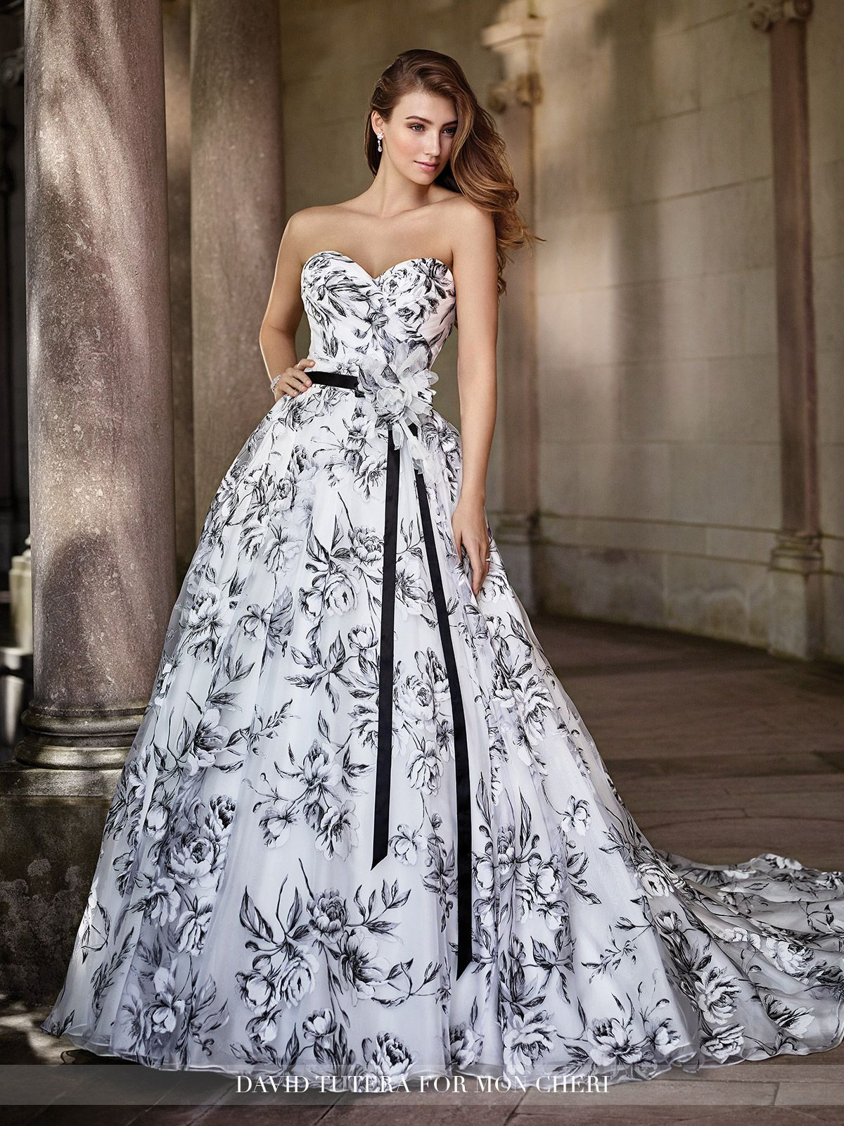 d6c1d637d2d David Tutera for Mon Cheri - 117283 Orabelle - Strapless floral printed  burnout organza over satin A-line gown with sweetheart neckline