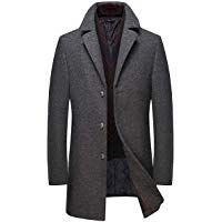 low priced 9ecda 8ffce moxishop Herren Herbst Elegante Lang Wollmantel Trenchcoat ...