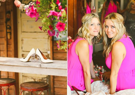 Hot Pink Bridesmaid Dresses Photo By Love Lit Wedding Photography Read More Http