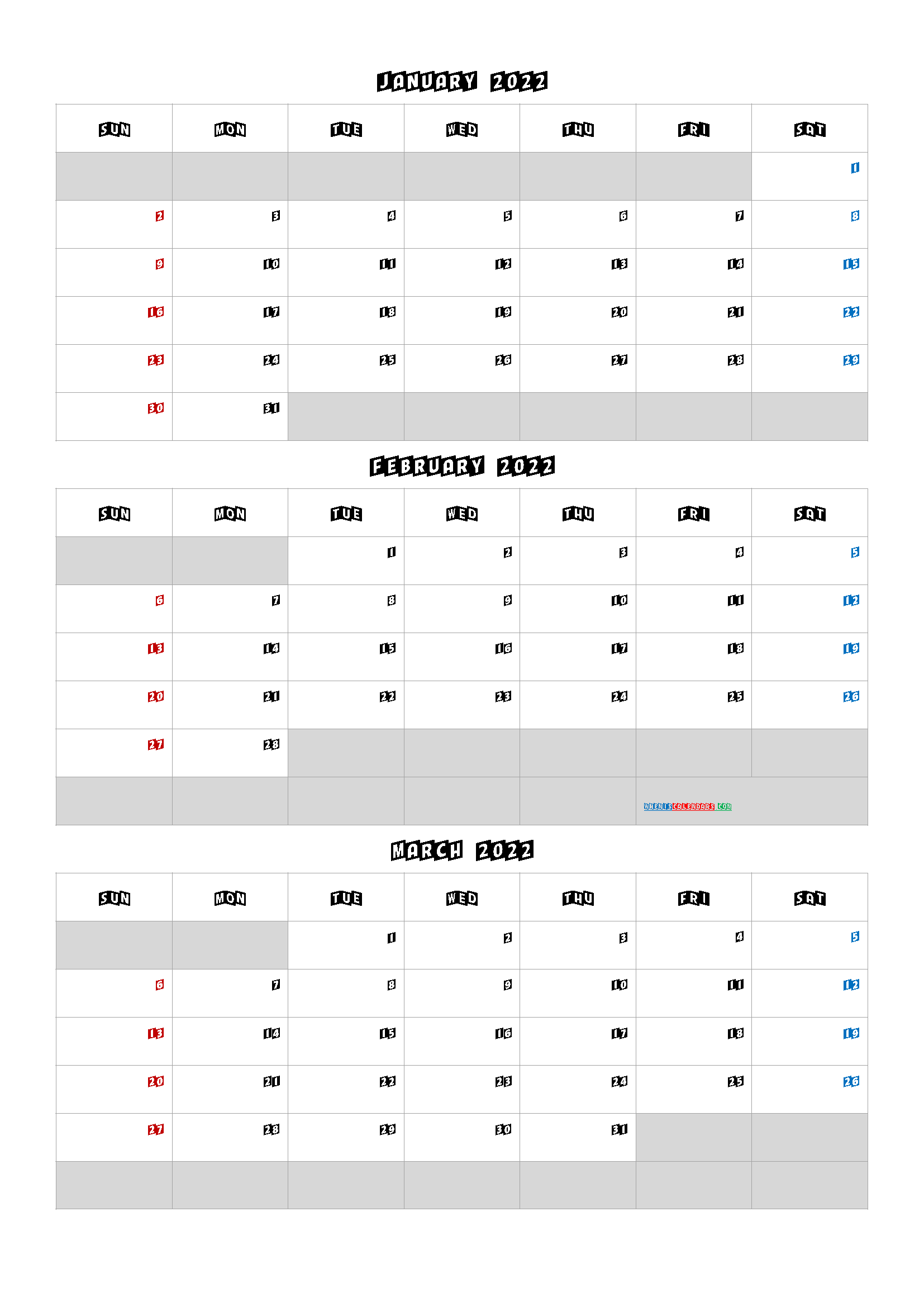 Calendar January February March 2022 Q1 Q2 Q3 Q4 In 2020 January February March Printable Calendar Template April May
