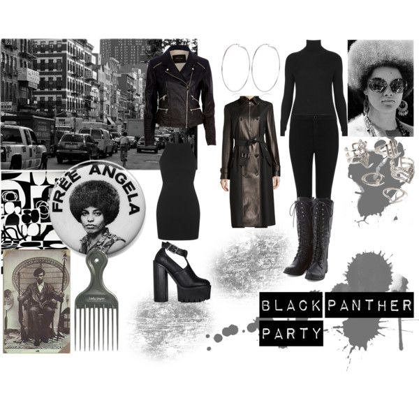 Black Panther Party by shenorajones on Polyvore featuring ...