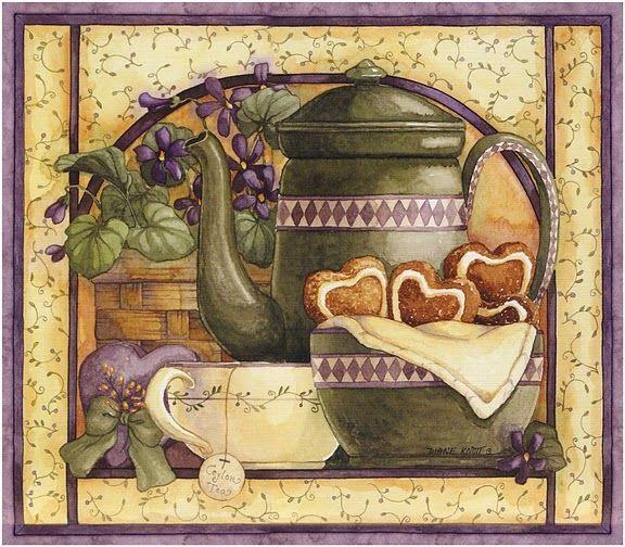 Desenhos Para Pinturas e Decoupage: Imagens para Decoupage - hora do cafe