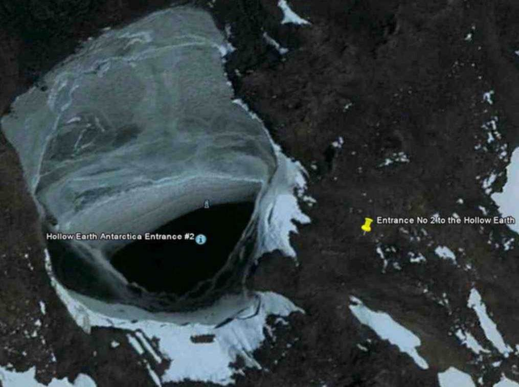 The Hollow Earth Entrance No In Antarctica As Shown In The - Satellite map of antarctica