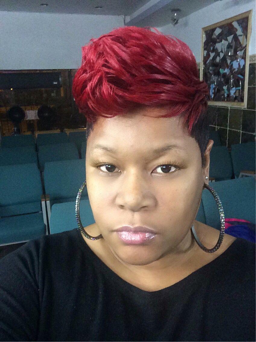 Red hair by chyna doll chicago pinterest short hair hair