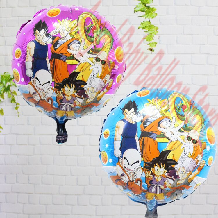 5pcs classic toys anime dragon ball z balloons son goku for Decoration dragon ball