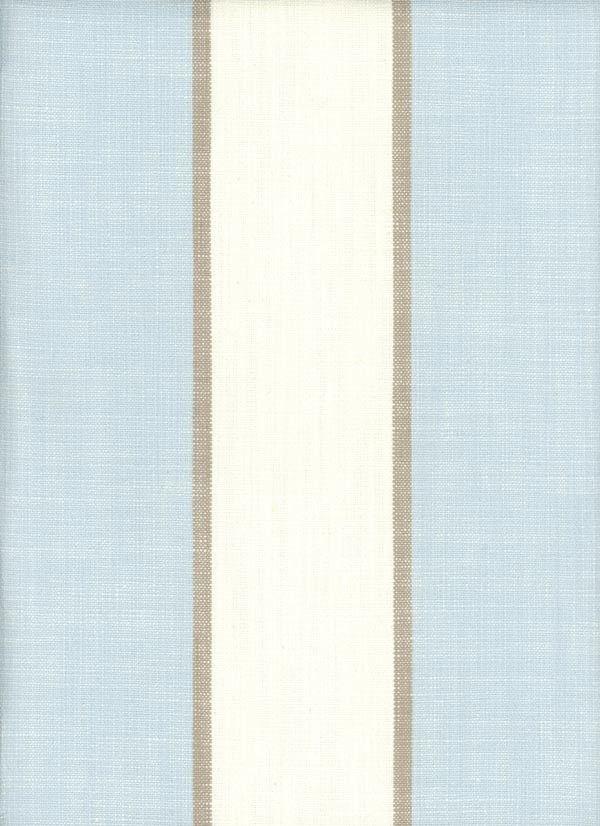 Newport Baymist Light Blue And Ivory White Striped Fabric
