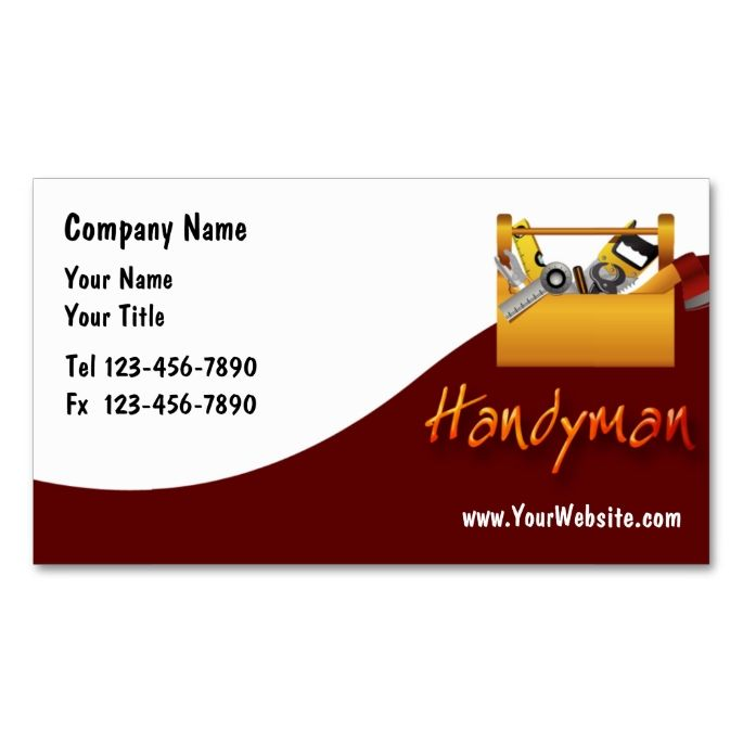 Handyman Business Cards This is a fully customizable business
