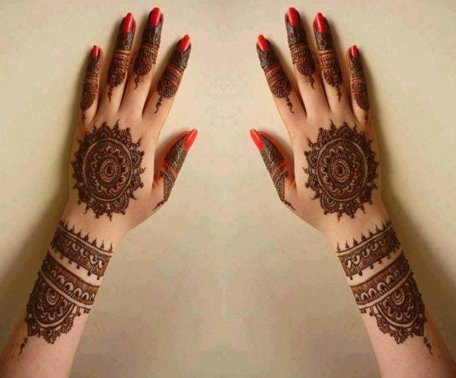 Bridal Mehndi New Latest Design : Brides mehndi designs for girls