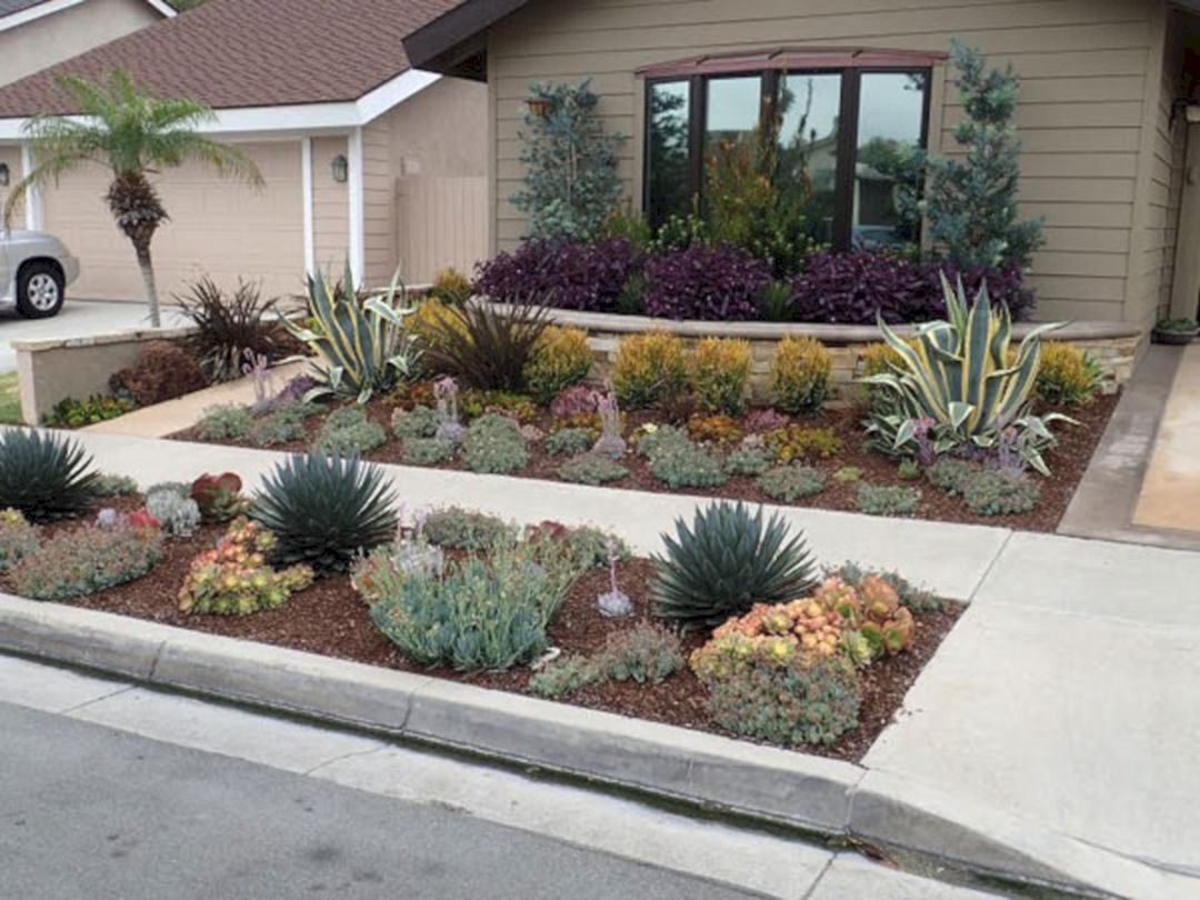 Best 23 Simple And Beautiful Front Yard Landscaping On A Budget In 2020 Xeriscape Front Yard