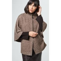 Photo of Cape Jacke in braun-beige gemustertem Windsor