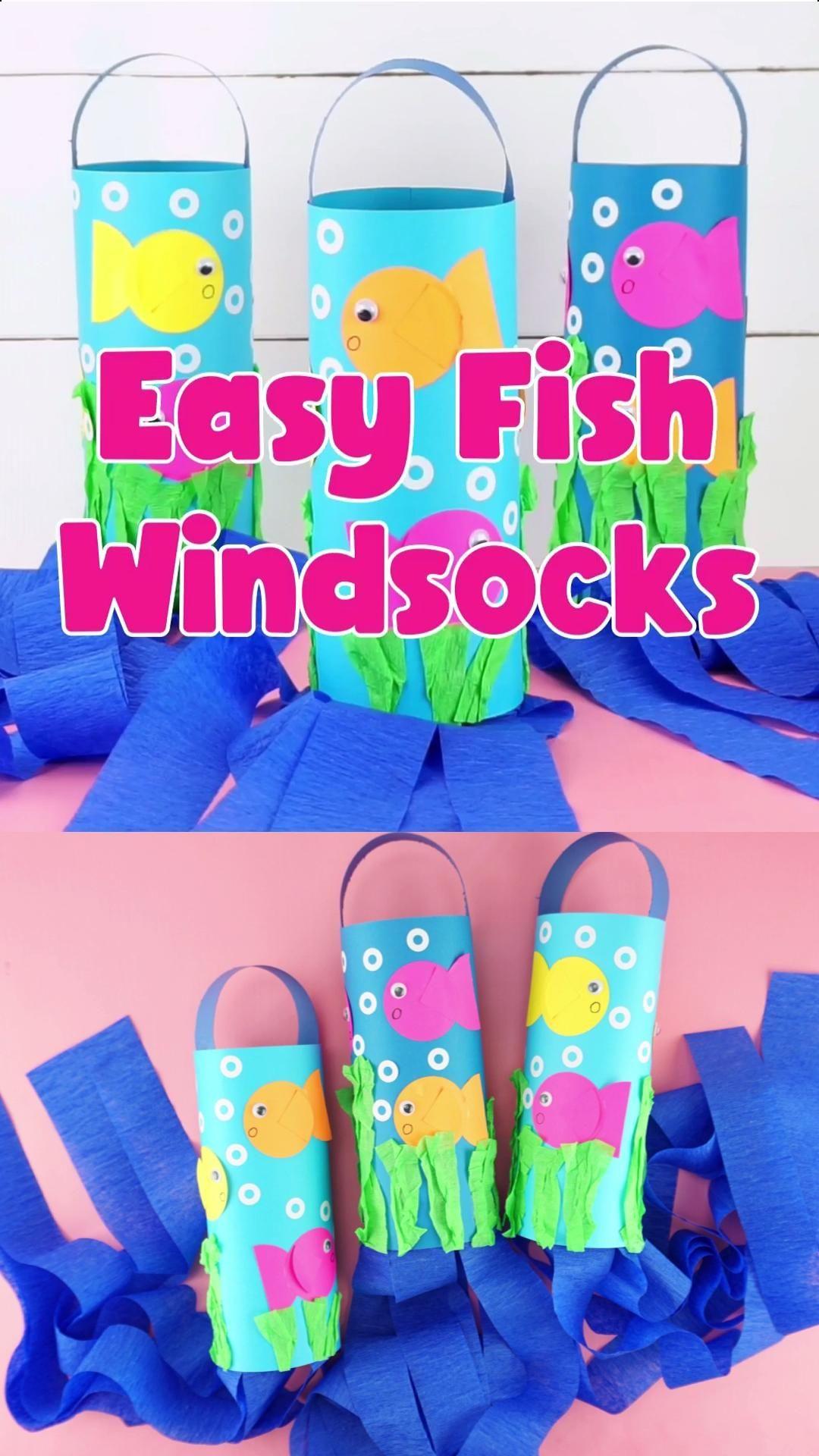 Easy Fish Windsocks for Kids