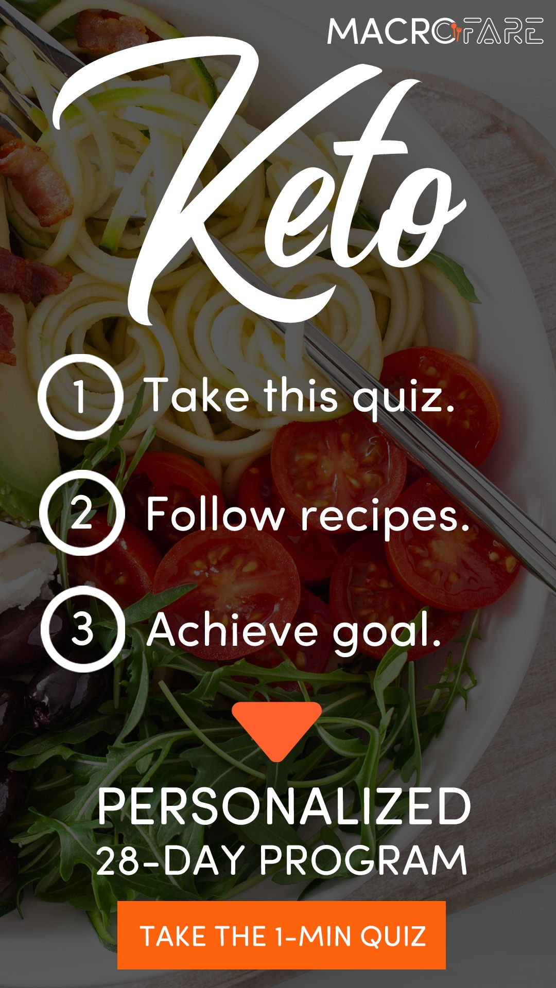 Easy Way To Succeed With Keto Take This Quiz Meal Planner Personalized Meal Plan Keto