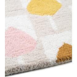 Photo of Scion wool carpet Sula beige / pink 140×200 cm – natural fiber carpet made of ScionScion wool