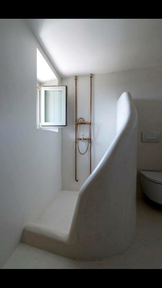 Douche béton ciré | Badkamer | Pinterest | Bath and House