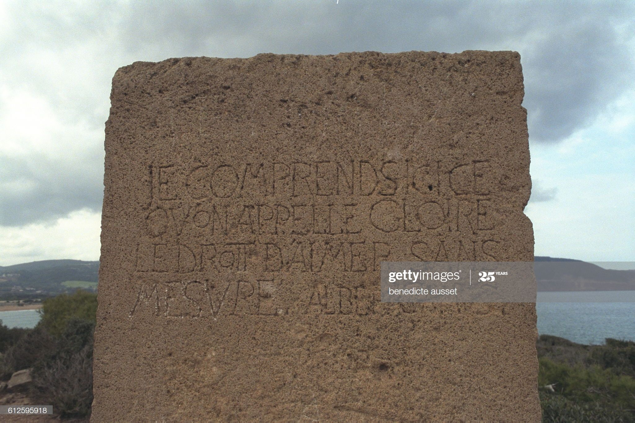 News Photo : Stele facing Chenoua Mont at Tipaza, erected in...