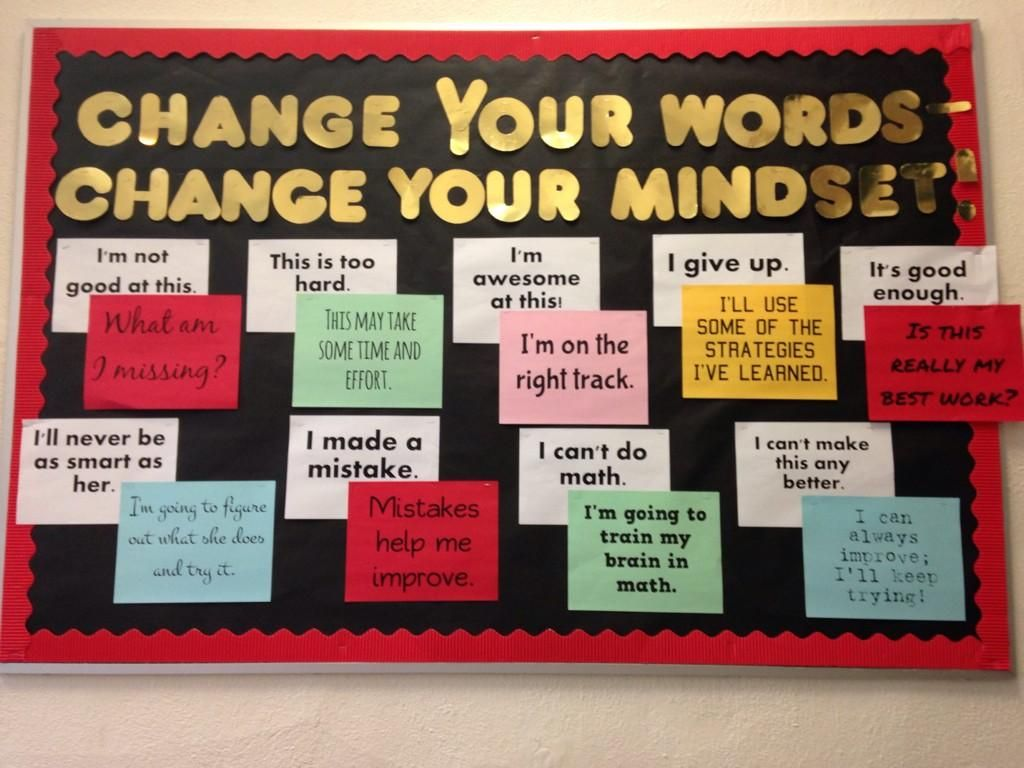 Lizzy haddon school on mindset bulletin board and school for Inspirational quotes for office notice board