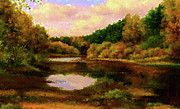 Nature Landscape Oil by Edna Wallen