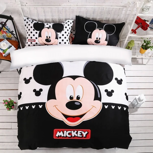 Mickey Bedding Set Disney Mickey Mouse Cute Duvet Cover Pillowcases Twin Full Queen King Size Kids Bedlinen In 2021 Cute Duvet Covers Mickey Mouse Bedding Duvet Covers