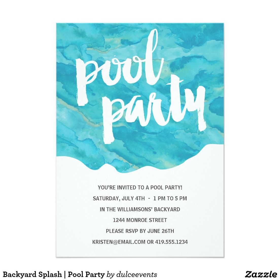 backyard splash pool party card party invites pinterest pool