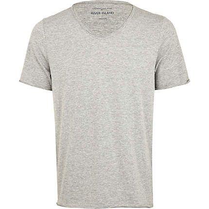 grey v neck t-shirt - plain t-shirts - t-shirts / vests - men ...