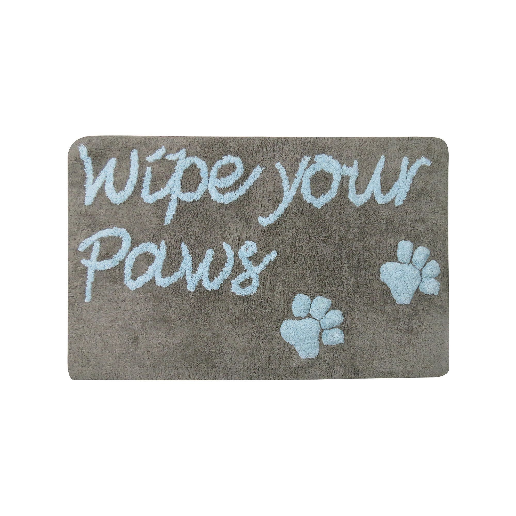 Pb Paws Wipe Your Paws Bath Mat 20 X 30 In 2020 Cute