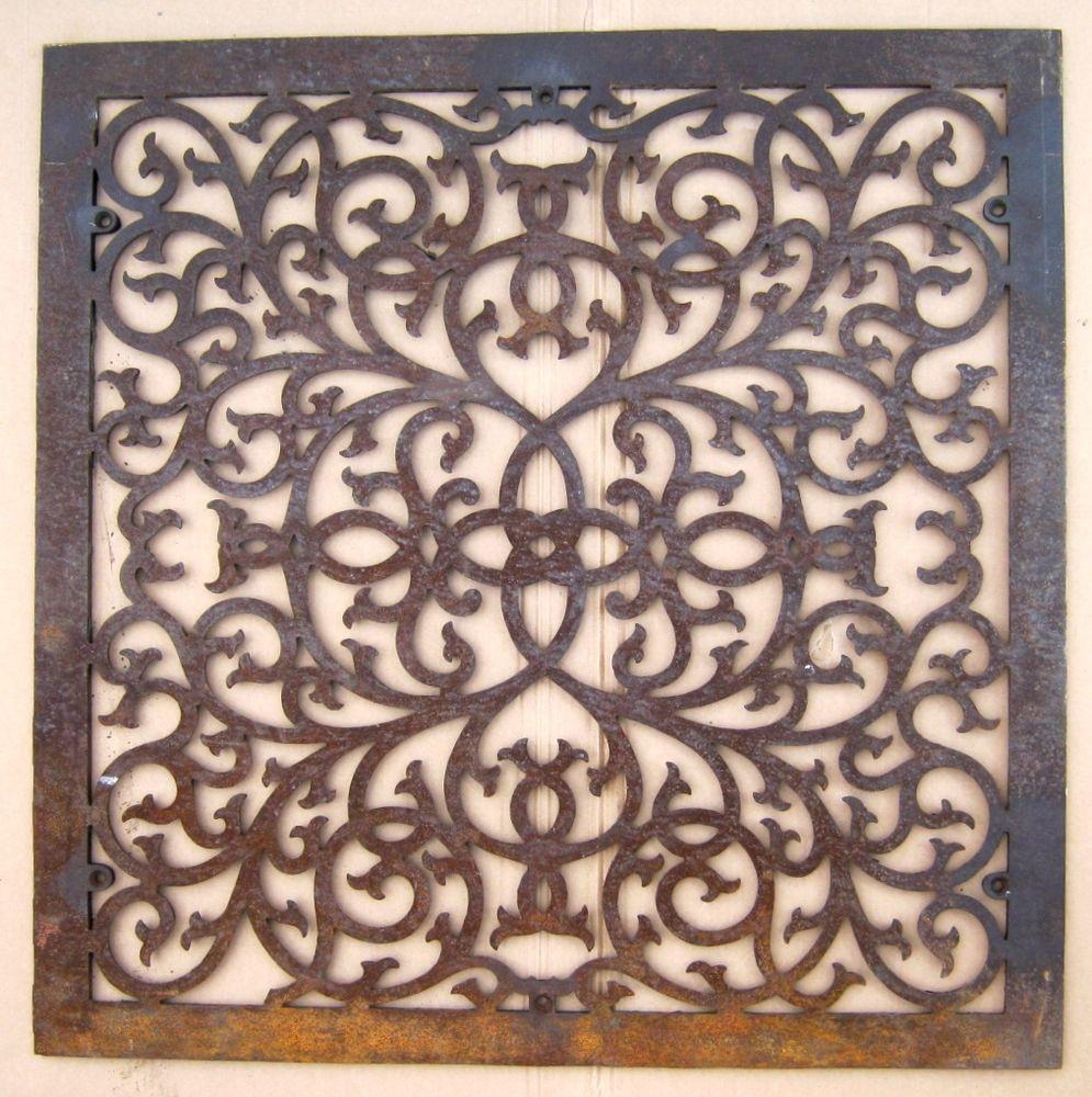 Large Antique Floor Grate Cold Air Return Register 32.5 x