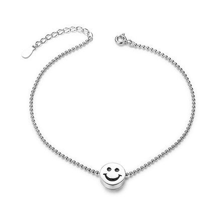 Sweetiee 925 Sterling Silver Anklet with Paw Silver 220mm for Woman 0Z9IOR0av3