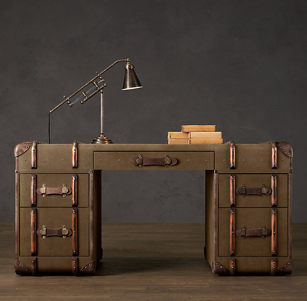 Check Out This Furniture Made By Restoration Hardware. Love The Vintage  Luggage Look Of These