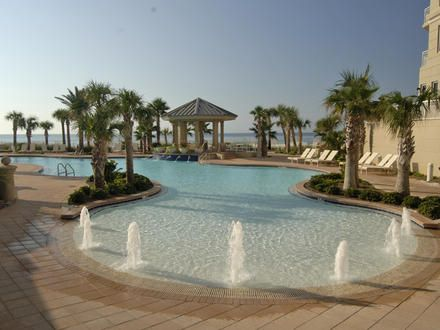 The Indigo Resort In Perdido Key Features An Incredible Tropical Pool With A Waterfall And Luscious Vegetation