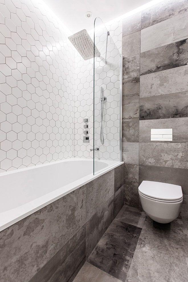 Белая плитка в ванной комнате: 60 фото в интерьере ...