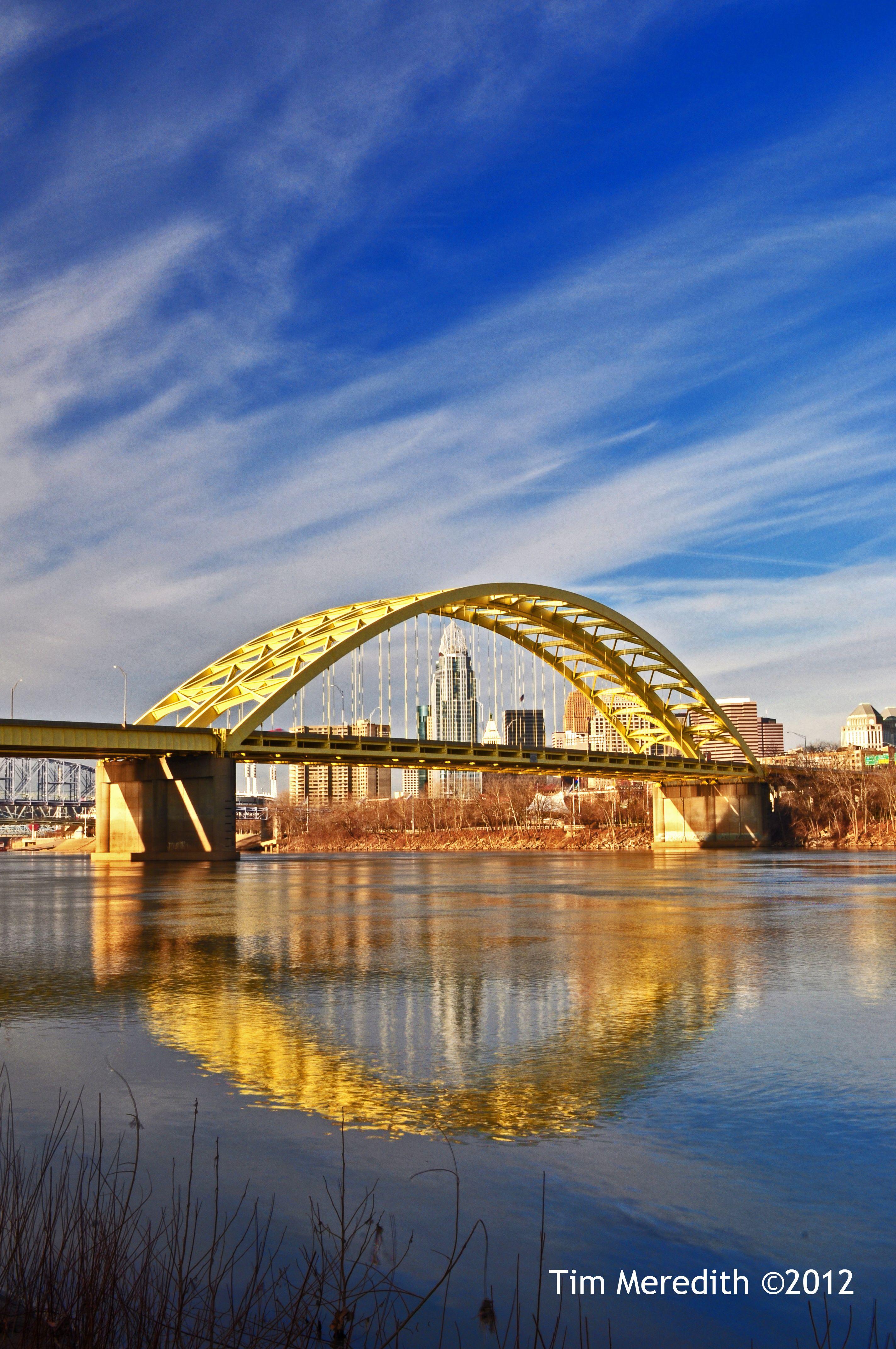 daniel carter beard big mac bridge over the ohio river seen