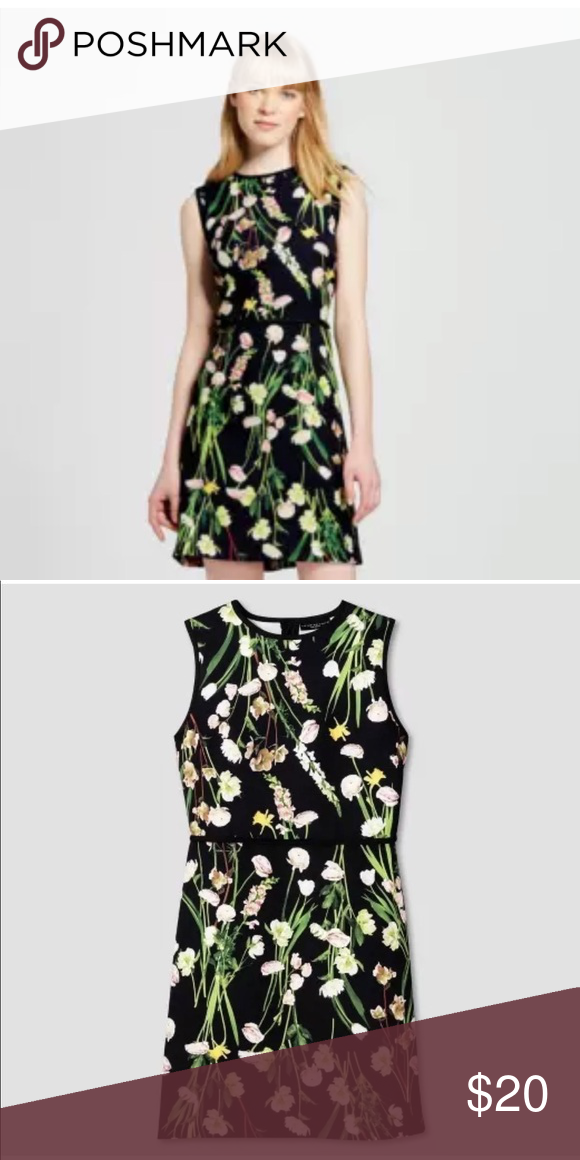 d87e6456611 Victoria Beckham for Target Black English Floral Satin Dress Flowers in  size XL Victoria Beckham for Target Dresses Midi