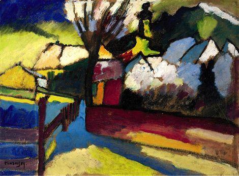 Wassily Kandinsky Herbslandschaft Mit Baum 1910 On Artstack