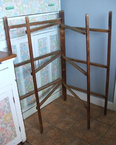 Old Antique Wooden Clothes Horse Airer Farmhouse Renovation Clothes Horse Old Antiques