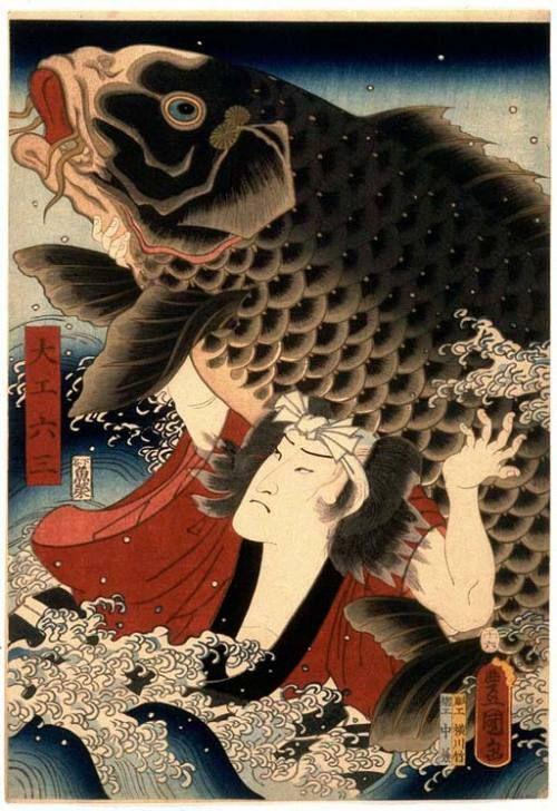 Utagawa Kunisada,  designer of ukiyo-e woodblock prints in 19th-century Japan.