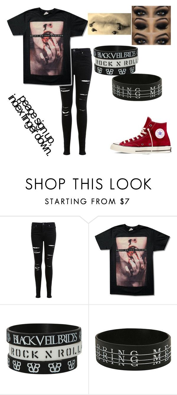 """""""Middle Fingers up if you don't give a fu❤k"""" by rawr-the-dinosaur ❤ liked on Polyvore featuring Miss Selfridge and Converse"""