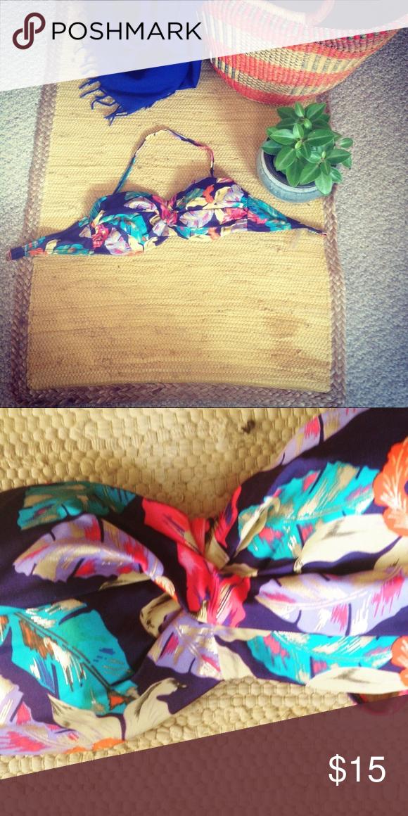 Victoria Secret Bathing Suit Top Colorful Jungle Leaf
