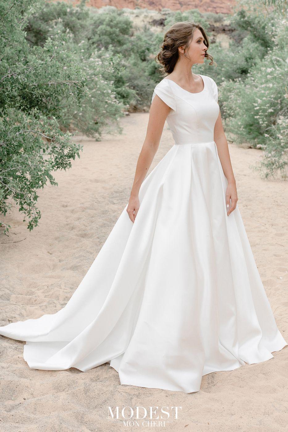 Modest Bridal By Mon Cheri Tr12033 Tulip Sleeve Wedding Dress In 2020 Short Sleeve Wedding Dress Modest Wedding Dresses Wedding Dresses Lace
