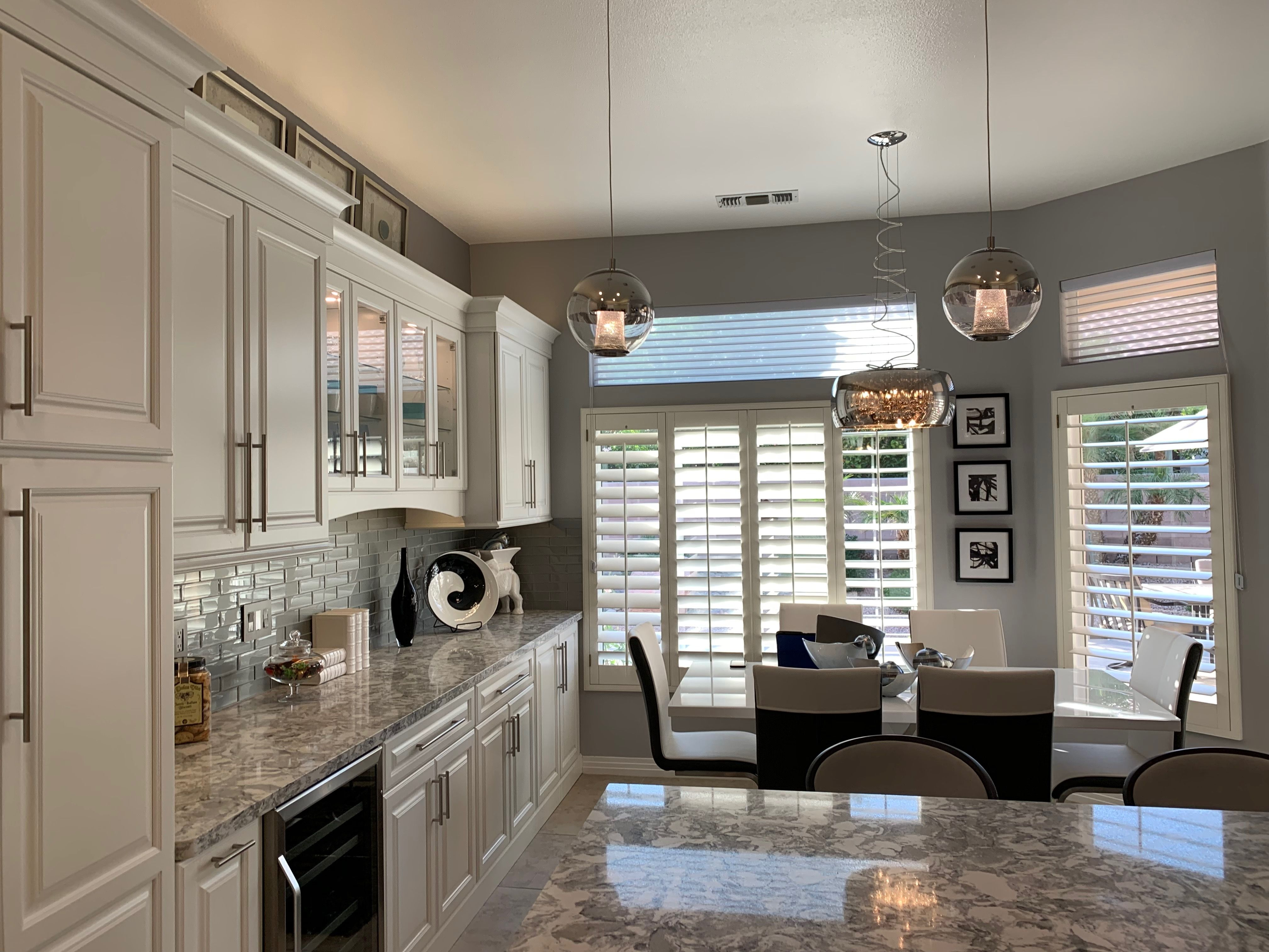 Palm Desert Open House Love The Cabinets Counters And Lighting Cabinet Kitchen Cabinets Decor