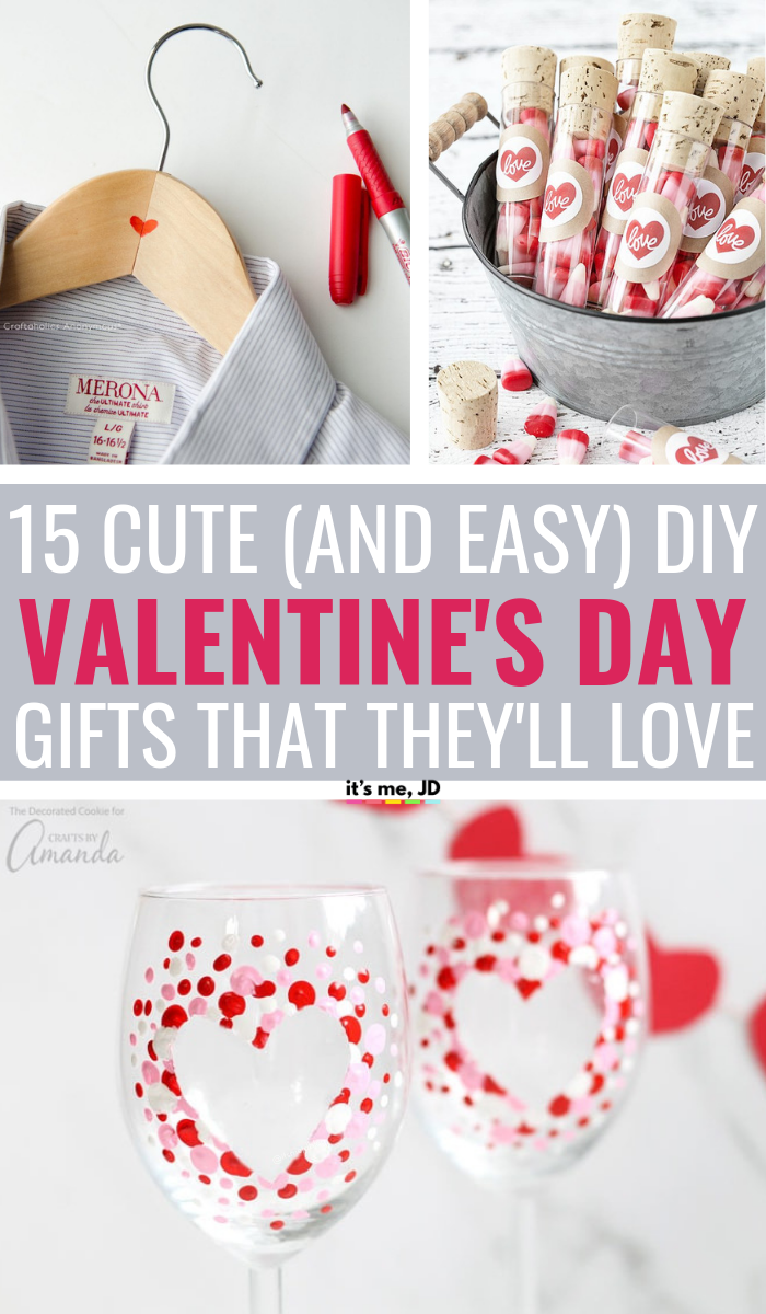 15 Charming And Easy Diy Valentine S Day Gifts For Your Sweetheart Valentines Diy Diy Valentines Gifts Valentine S Day Diy
