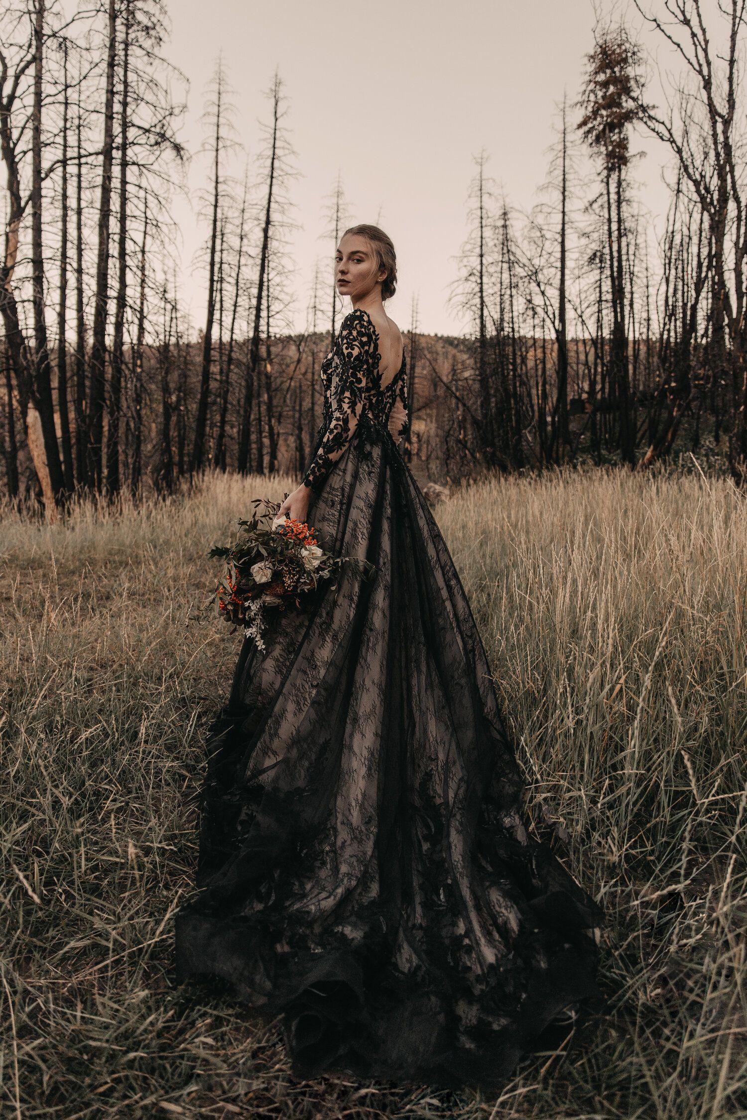Autumn Bridal Editorial Parting Birds Natalie Michelle Photo Co Gothic Wedding Dress Black Wedding Dresses Wedding Dress Guide [ 2250 x 1500 Pixel ]