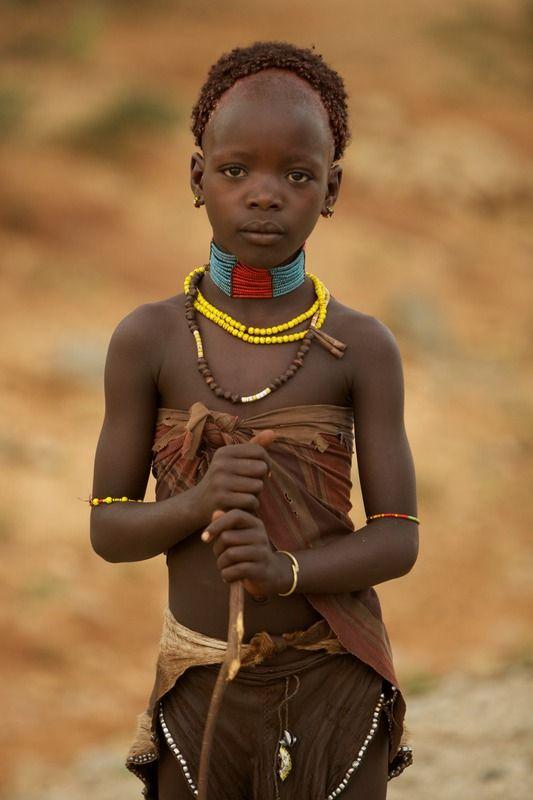 Portrait of women of the Hamer tribe, Lower Omo Valley