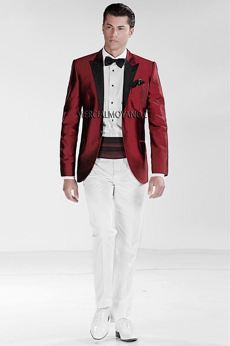 Click to buy ucuc new arrival one button dark red groom tuxedos