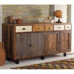 Sideboard Roxing aus altem Holz rustikal | Muebles, Madera ...