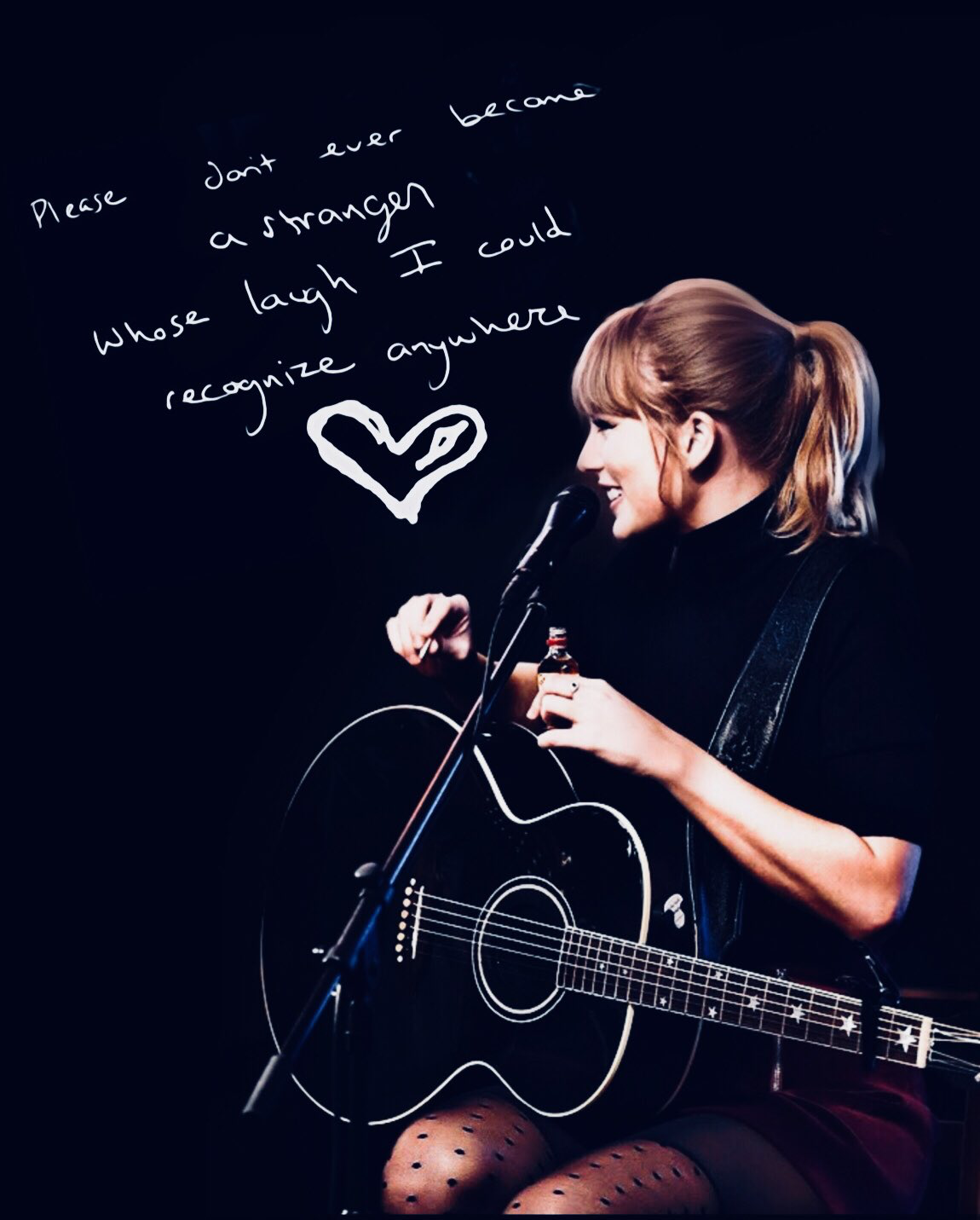 Taylor Swift New Year's Day fan lyric art edit Tswift